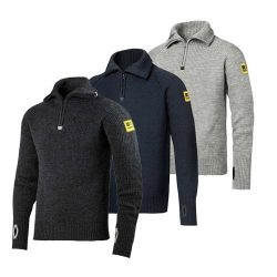 2905  Half-zipped cotton sweater