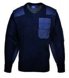 A NATO pulóver, 100% akril, pamut rátétek
