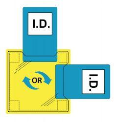 Dupla azonosítókártya tartó - varrható vagy ragasztható (50 db)